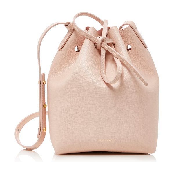 Mansur Gavriel Mini Bucket Pink Leather Bag in pink - Mansur Gavriel's coveted bucket bag is crafted from pink...