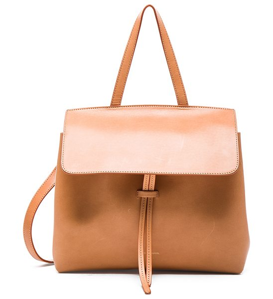 MANSUR GAVRIEL Mini lady bag - Vegetable tanned leather with metallic patent leather...