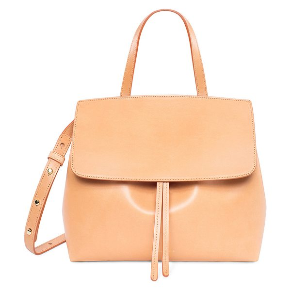 "MANSUR GAVRIEL Mini Lady Bag in nude - ""Vegetable tanned leather with raw lining.  Made in..."