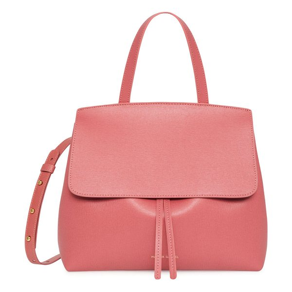 MANSUR GAVRIEL Mini Lady Saffiano Satchel Bag - Mansur Gavriel satchel bag in saffiano leather. Golden...