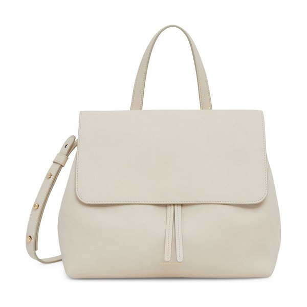 Mansur Gavriel mini lady soft leather satchel in latte