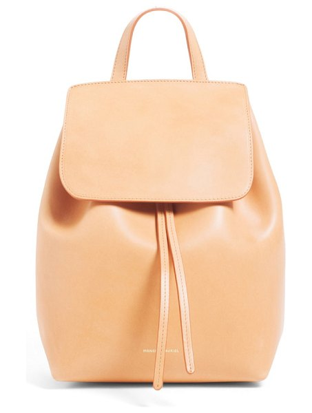 Mansur Gavriel mini leather backpack in beige - Classically minimal and expertly crafted, this...