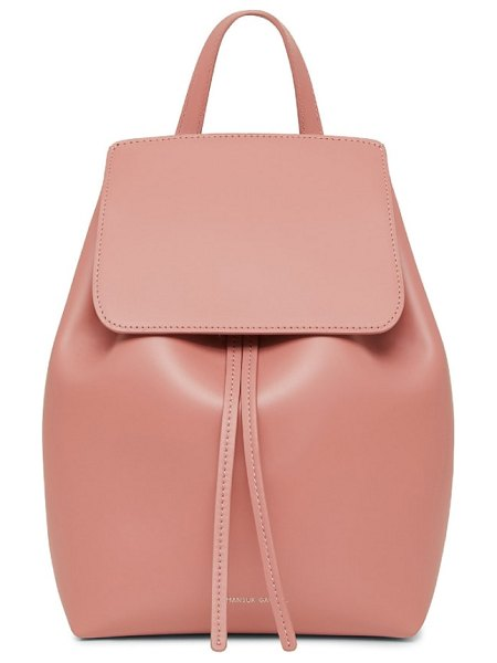 Mansur Gavriel mini leather backpack in pink