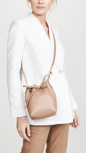 Mansur Gavriel mini mini bucket bag in biscotto