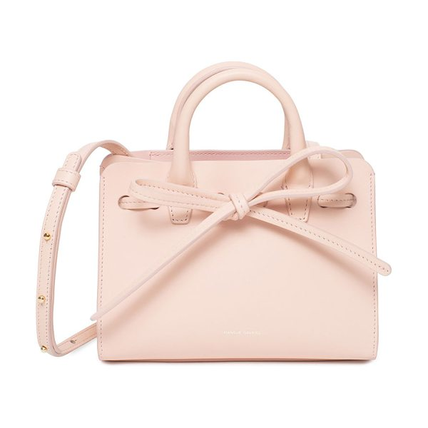 "Mansur Gavriel Mini Mini Sun Tote Bag in rosa - Mansur Gavriel mini mini ""Sun"" tote bag in Italian calf..."