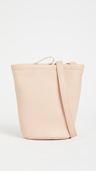 Mansur Gavriel mini zip bucket bag in cipria
