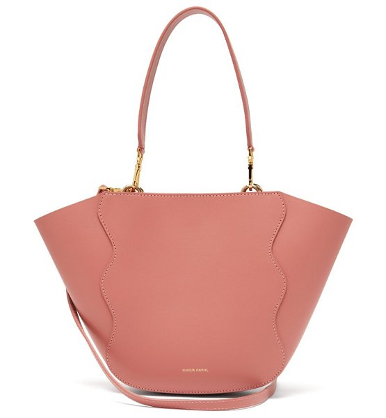 Mansur Gavriel ocean mini leather cross body bag in light pink - Mansur Gavriel - Mansur Gavriel's renowned clear-line...