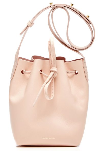 MANSUR GAVRIEL Rosa Mini Mini Bucket Bag in light pink - A signature bag from the cult label this *Mansur...