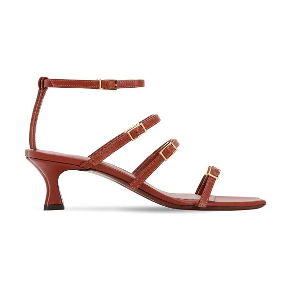 Manu Atelier 50mm leather sandals in tan
