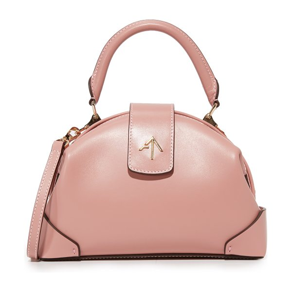MANU ATELIER demi top handle bag in cameo rose - A petite MANU Atelier bag with an elegant curved...
