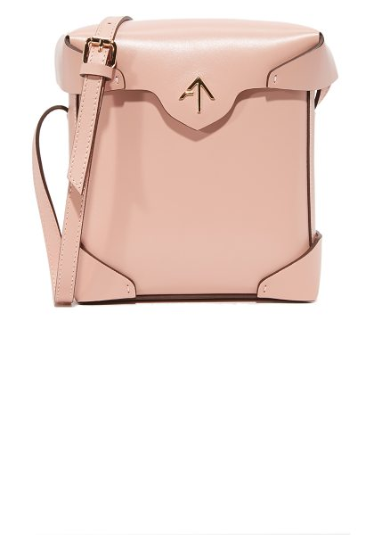 Manu Atelier mini pristine box bag in light pink