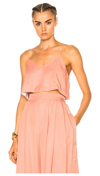 Mara Hoffman Crop Cami Top in neutrals,pink - 100% Lenzing modal.  Made in USA.  Hand wash.  Fully...