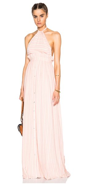 Mara Hoffman Halter Dress in stripes,pink - 100% cotton.  Made in India.  Fully lined.  Neck tie...