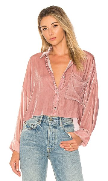 Mara Hoffman Inez Button Down Top in mauve - Viscose blend. Dry clean only. Front button closure....
