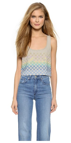 MARA HOFFMAN Linen beaded crop top - Shimmering, beaded checkers put a glamorous finish on...