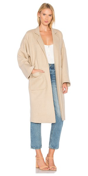 Mara Hoffman Rita Coat in tan - Wool blend. Dry clean only. Open front. Front pockets....