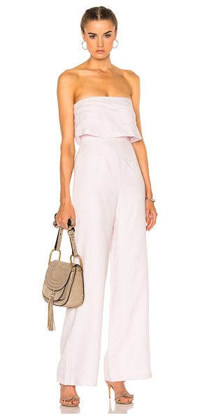 Mara Hoffman Strapless Jumpsuit in pink,purple - Self: 100% organic linen - Lining 100% viscose.  Made in...