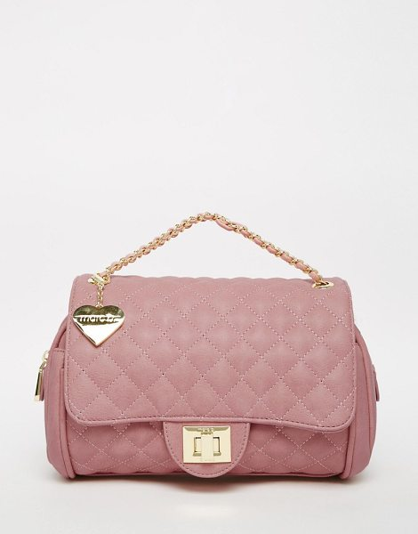 Marc B Quilted shoulder bag in sherbert pink in sherbet pink - Cart by Marc b Leather outer Quilted fabric Animal print...