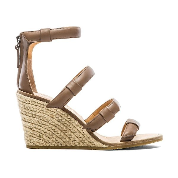 Marc by Marc Jacobs 85 mm sandal espadrille wedge in taupe - Leather upper with rubber sole. Wedge measures approx...