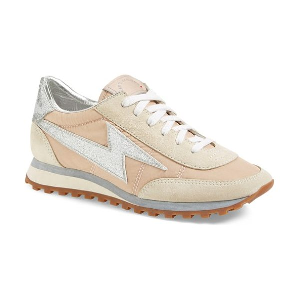 Marc Jacobs astor lightning sneaker in nude - Marc Jacobs' take on the season's athleisure trend...