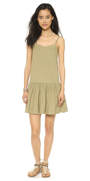 Marc by Marc Jacobs Bra top dress in safari - A sweetheart neckline and ruched, drop waist skirt give...