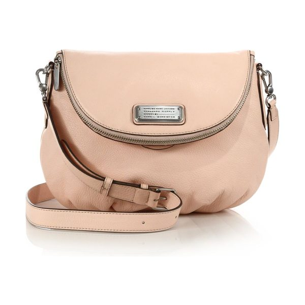 Marc by Marc Jacobs Classic q natasha two-tone leather crossbody bag in pearlblush - A timeless brand classic in pebbled leather, this...