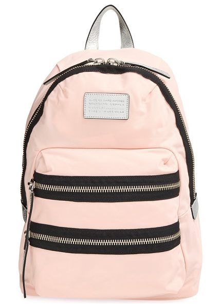 Marc by Marc Jacobs Domo arigato packrat backpack in pearl blush multi - Bold zips add a modern spark to a classic design. The...