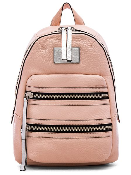 Marc by Marc Jacobs Domo biker backpack in blush - Leather exterior with cotton fabric lining. Adjustable...