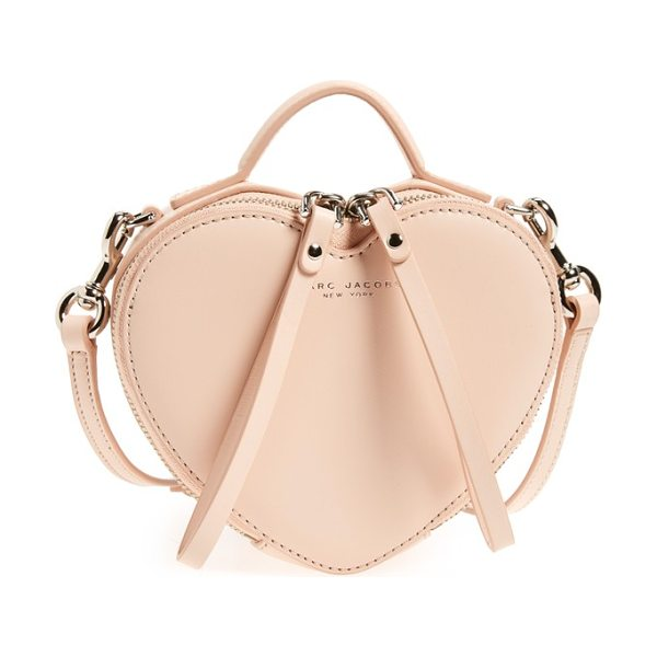 Marc Jacobs Heart leather crossbody bag in seashell peach