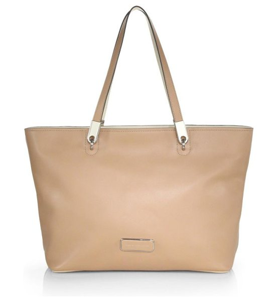 MARC BY MARC JACOBS Ligero tote in darkbuff - This everyday tote is crafted from supple leather and...