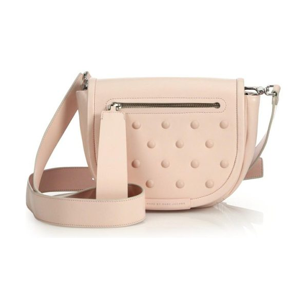 "Marc by Marc Jacobs Luna studded crossbody bag in pinkbuff - li9.75""W X 6.25""H X 3.25""DLeatherImported"
