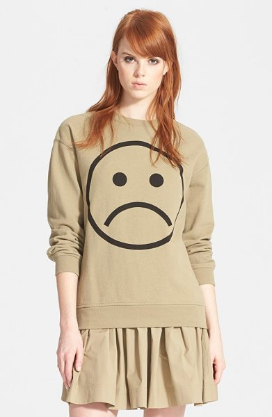 Marc by Marc Jacobs magnified sad face sweatshirt in safari multi - Too busy to properly show your displeasure? Let your...