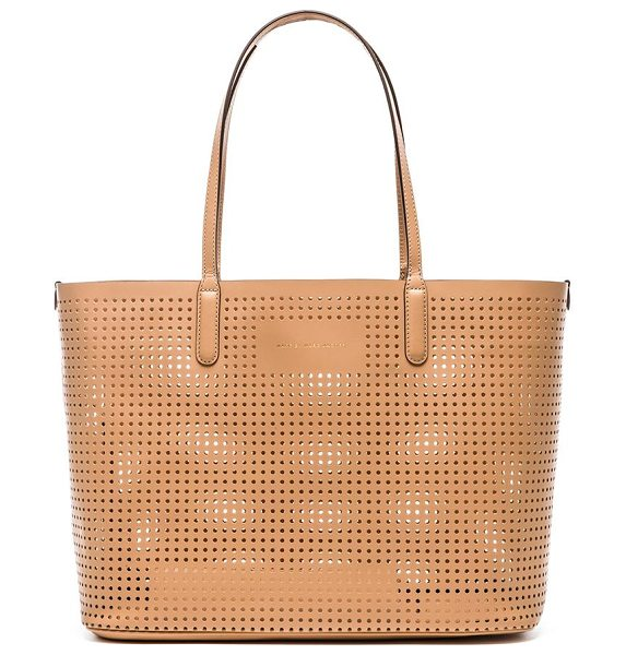 Marc by Marc Jacobs Metropolitote 48 bag in beige - Perforated leather exterior and lining. Measures approx...