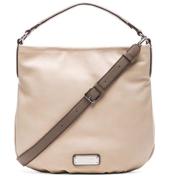 Marc by Marc Jacobs New q hillier hobo in beige - Leather exterior with fabric lining. Measures approx...