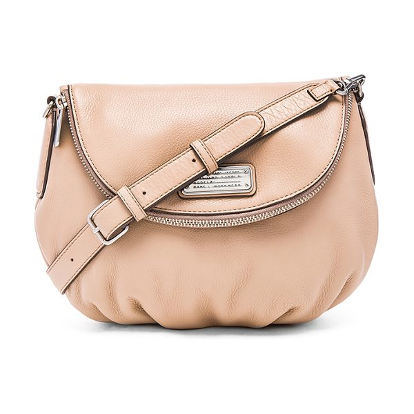 Marc by Marc Jacobs New q natasha crossbody in beige - Leather exterior with cotton fabric lining. Detachable...