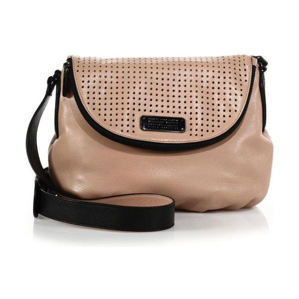 Marc by Marc Jacobs New q natasha perforated crossbody bag in darkbuff