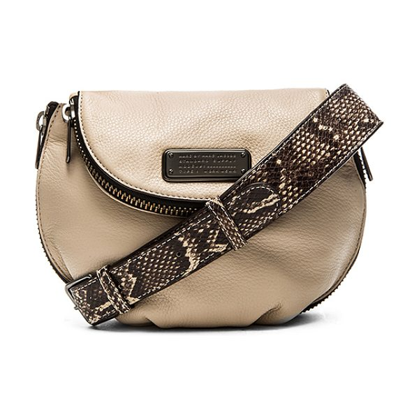 Marc by Marc Jacobs New q zippers mini natasha crossbody bag in taupe - Leather exterior with cotton fabric lining. Adjustable...
