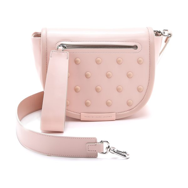 Marc by Marc Jacobs Runway luna studs cross body bag in pink buff