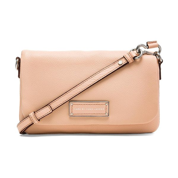 Marc by Marc Jacobs Too hot to handle flap percy bag in peach - Leather exterior with jacquard fabric lining. Measures...