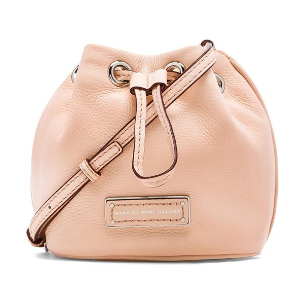 MARC BY MARC JACOBS Too hot to handle mini drawstring bag - Leather exterior with jacquard fabric lining. Measures...