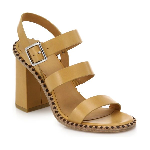 Marc by Marc Jacobs Triple-strap leather sandals in tan
