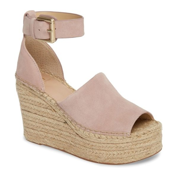 MARC FISHER LTD adalyn espadrille wedge sandal in pink - Take your sandal to new heights with Marc Fisher's...