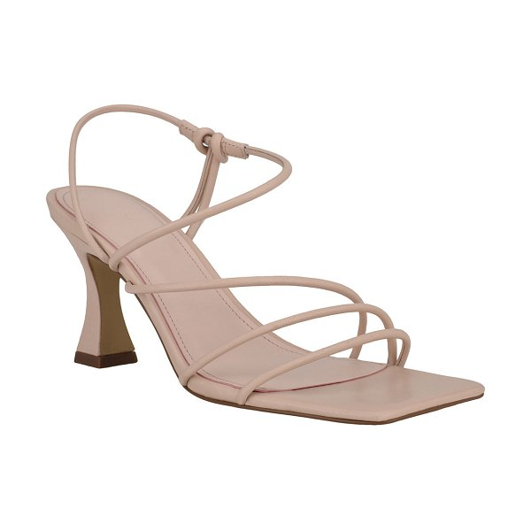 MARC FISHER LTD Dami Strappy Kitten-Heel Sandals in blush