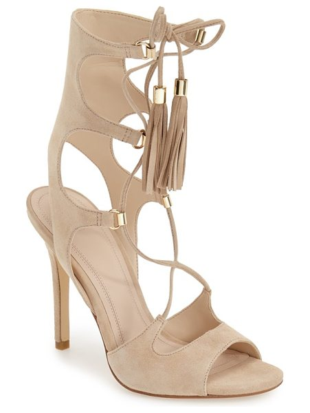 MARC FISHER LTD 'larsa' lace up sandal - Slender tassel-tipped laces secure a breathtaking...