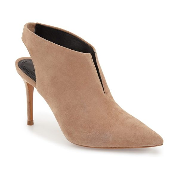 MARC FISHER LTD Marc fisher talia bootie in tan suede - An elongated pointy toe defines an ultrachic bootie...