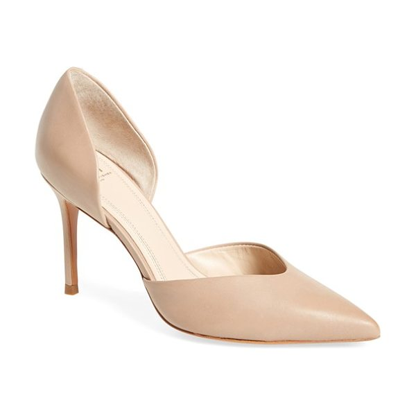 MARC FISHER LTD 'tammy' d'orsay pump in tan leather - A low-cut, notched vamp brings a modern touch to a...