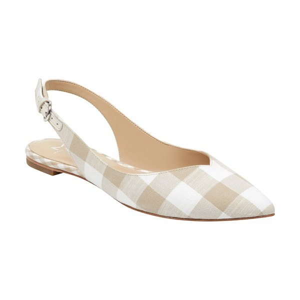 MARC FISHER LTD samera slingback flat in beige