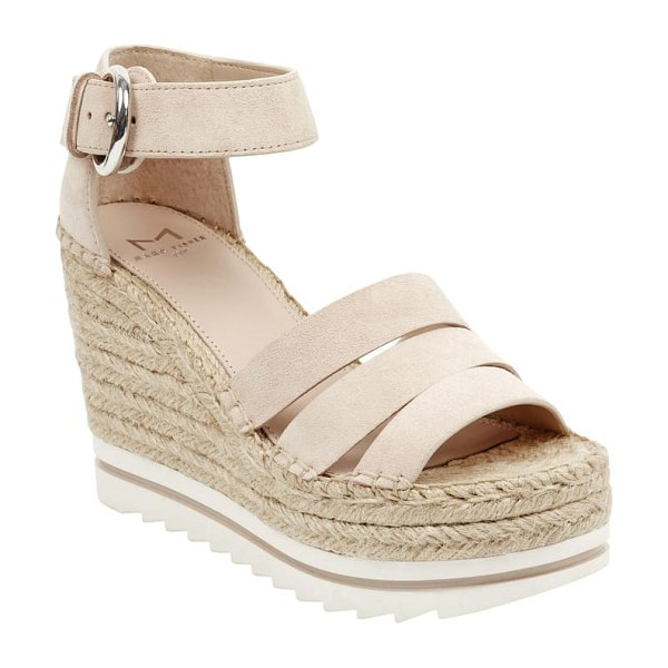 MARC FISHER LTD sammy espadrille wedge sandal in brown - A razor-tread sole adds sporty contrast to the...