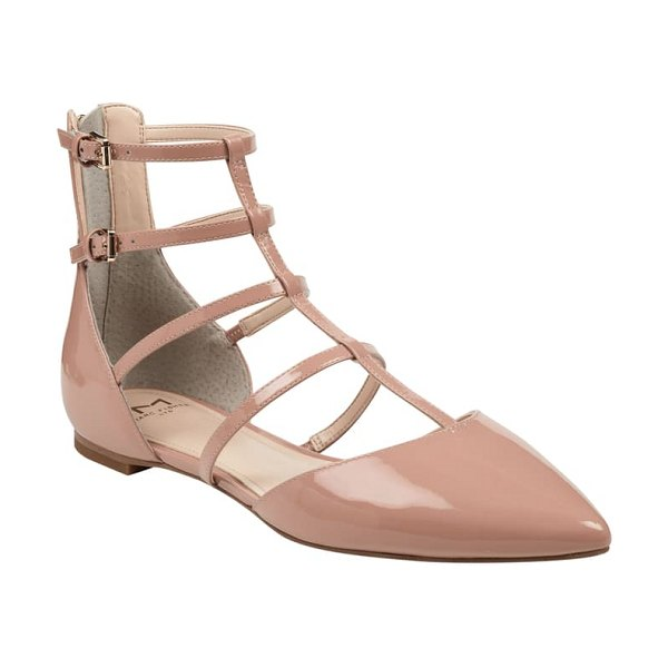 MARC FISHER LTD scoutly strappy pointy-toe flat in pink