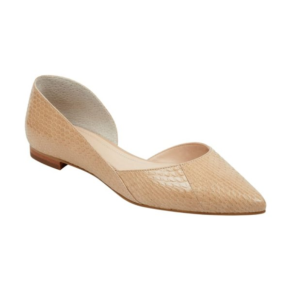 MARC FISHER LTD 'sunny' half d'orsay flat in beige